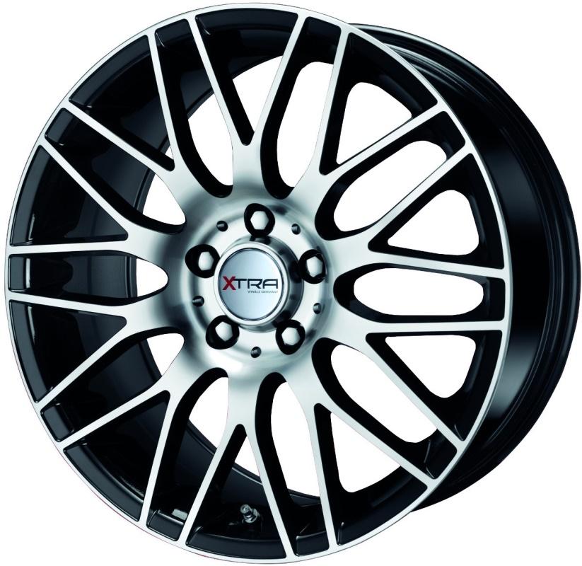 Xtra Wheels SW2 7,5X16 5X114,3 ET45 DIA72,6 BLACK POLISHED